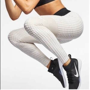 Nike pro hyper warm cream desert leggings